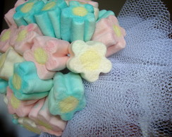 Buqu� de marshmallows flor
