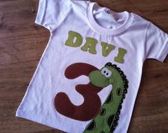 Camiseta Personalizada Anivers�rio Dino