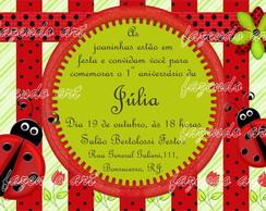 Arte digital Convite Joaninha