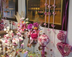 Kit festa completa rosa pink e dourado I