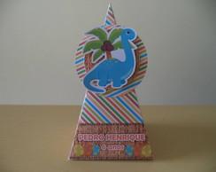 Caixa Pir�mide Dinossauros