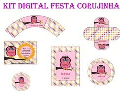Kit Digital Festa Corujinha