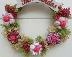 Guirlanda de flores - Bem Vindos