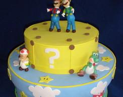 Caixa de Bolo Gelado Mario Bros