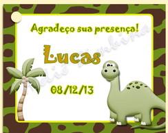 Tag personalizado Dinossauro