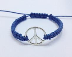 Frete Gratis - Pulseira Paz Azul Royal