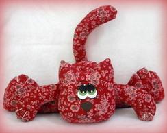 Peso de Porta Gato Vermelho