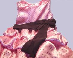 Vestido Minnie Rosa Balon�