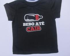 Camiseta - Bebo at� Cair