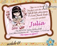Convite Festa Do Pijama Jolie