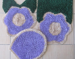 Conjunto de tapetes para banheiro, 3 pe�