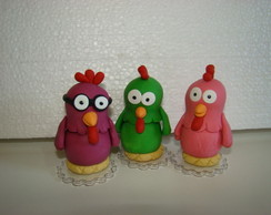 trio de galinhas da galinha pintadinha