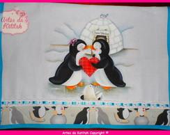 Pano de prato: Os pinguins