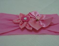 Faixa para cabelo rosa bela