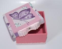 Mini caixa rosa de Borboleta