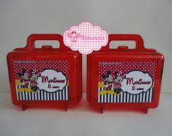 Maleta Acr�lico Mickey e Minnie 01