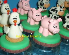 Potinhos fazendinha em biscuit