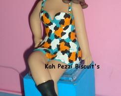 Topo de bolo boneca em biscuit