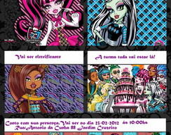 30 Convites-Gibi das Monster High