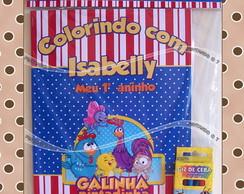 Kit de Colorir Galinha Pintadinha