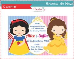 Convite Digital Branca De Neve e Bela