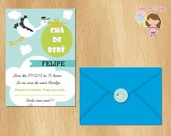 Convite Ch� De Beb� - Cegonha