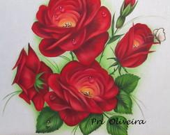 Pano de Prato Rosas Macram�