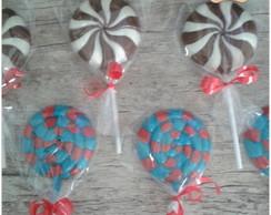 Pirulitos de chocolate simples