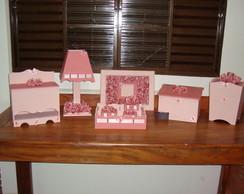 kit higiene beb� rosa proven�al