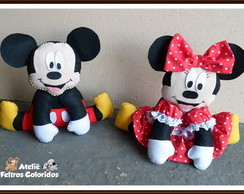 Mickey e Minnie Mouse enfeites