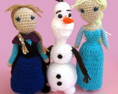 Kit Frozen: 3 bonecos de croch�