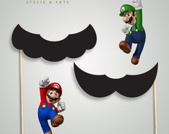 Bigode Photo Booth - Mario e Luigi