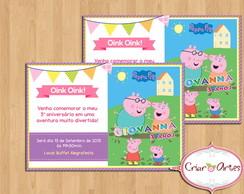 Convite Peppa Pig e Fam�lia - mod.2
