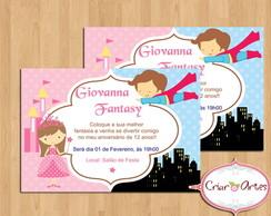 Convite Festa a fantasia - mod. 2