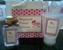 Kit Perfumado rosa com po� marrom