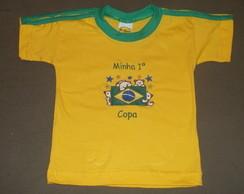 Camiseta Beb� Bordada. C�d.r111