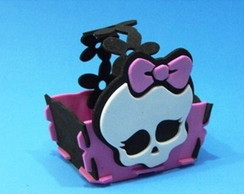 Cesta Retangular Caveirinha Monster High