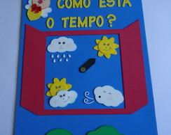 Painel escolar Janelinha do tempo