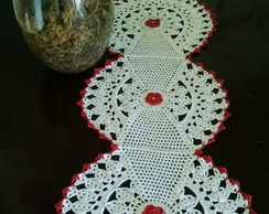 centro de mesa em croch�