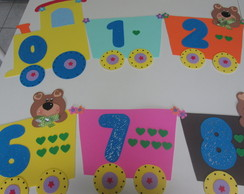 Trenzinho dos numerais - Azul