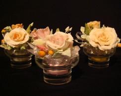 arranjo de flores feito com sabonete