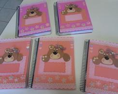 Caderno Ursinho, com marca-p�gina