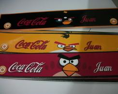 Rotulo para coca cola angry birds