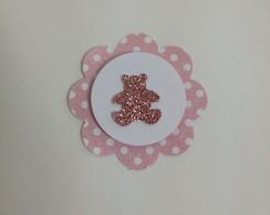 Tag (scrapbook) Urso Glitter