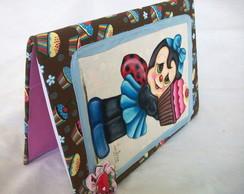 Caderno Joaninha Cupcake