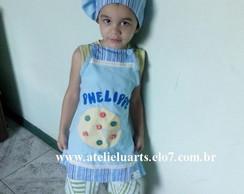 Avental Infantil E Chap�u Mestre Cuca