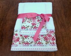 Conjunto Toalhas Banho E Rosto - Floral