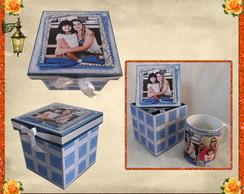 Caneca personalizada com caixa decorada