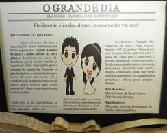 Convite de Casamento - Jornal