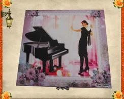 Caixa cantora l�rica e piano